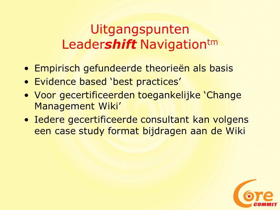 Uitgangspunten Leadershift Navigationtm