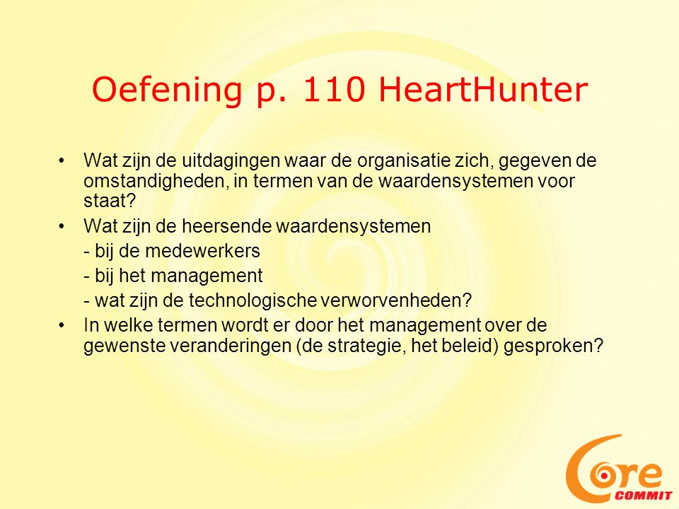 Oefening p. 110 HeartHunter