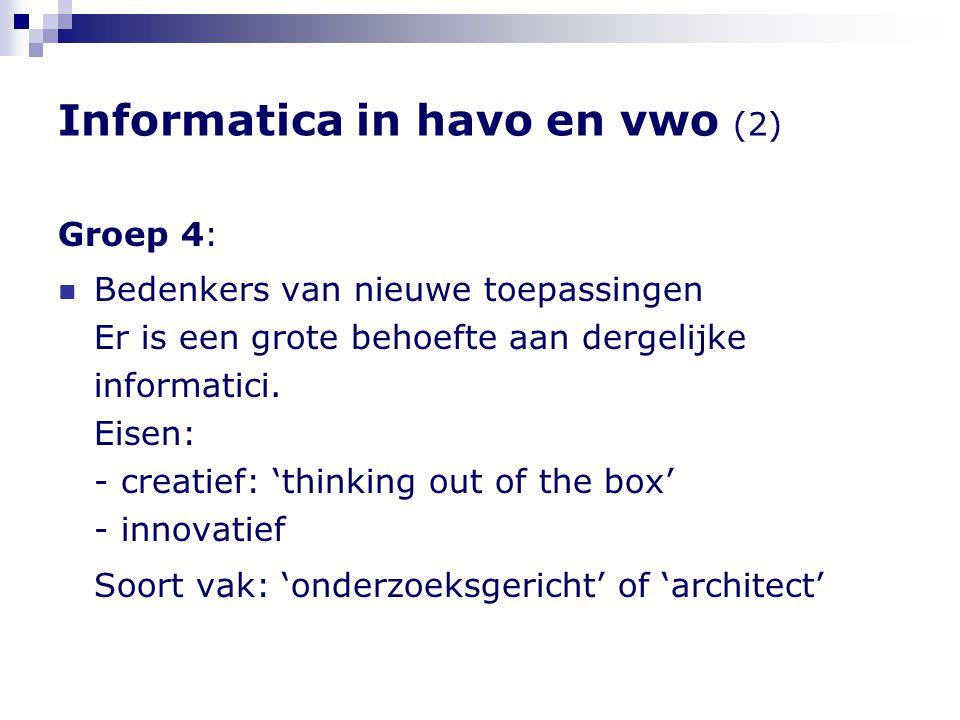 Informatica in havo en vwo (2)