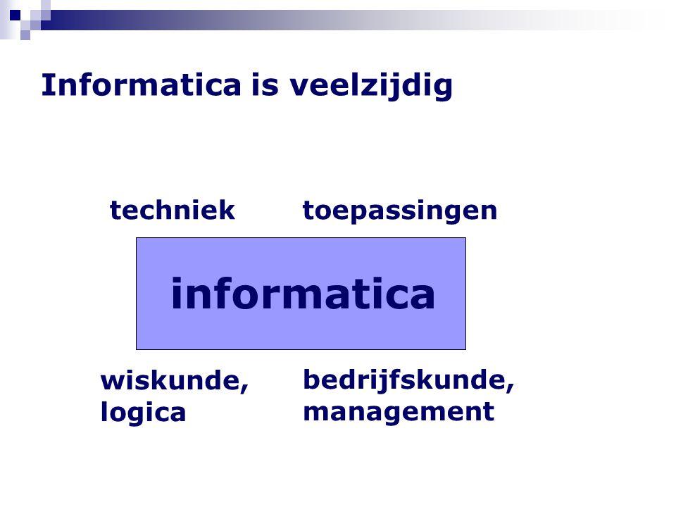 Informatica is veelzijdig