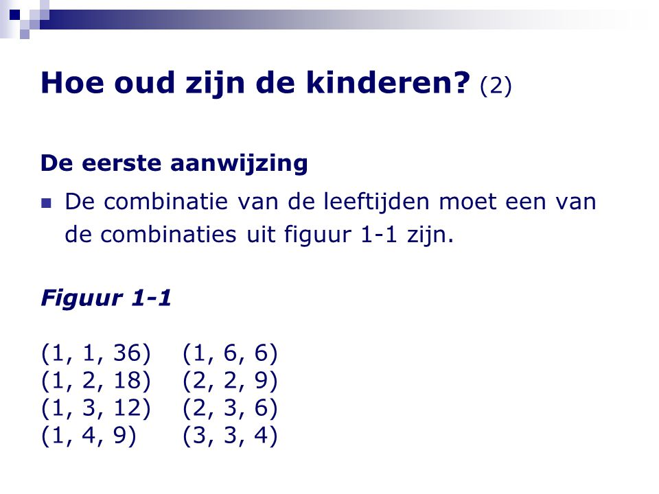 Hoe oud zijn de kinderen (2)