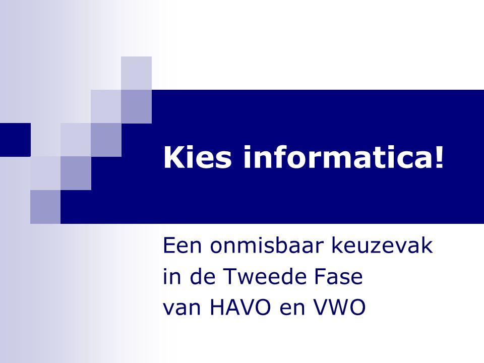 Een onmisbaar keuzevak in de Tweede Fase van HAVO en VWO