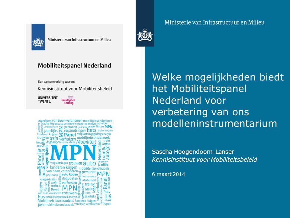 Welke mogelijkheden biedt het Mobiliteitspanel Nederland voor verbetering van ons modelleninstrumentarium