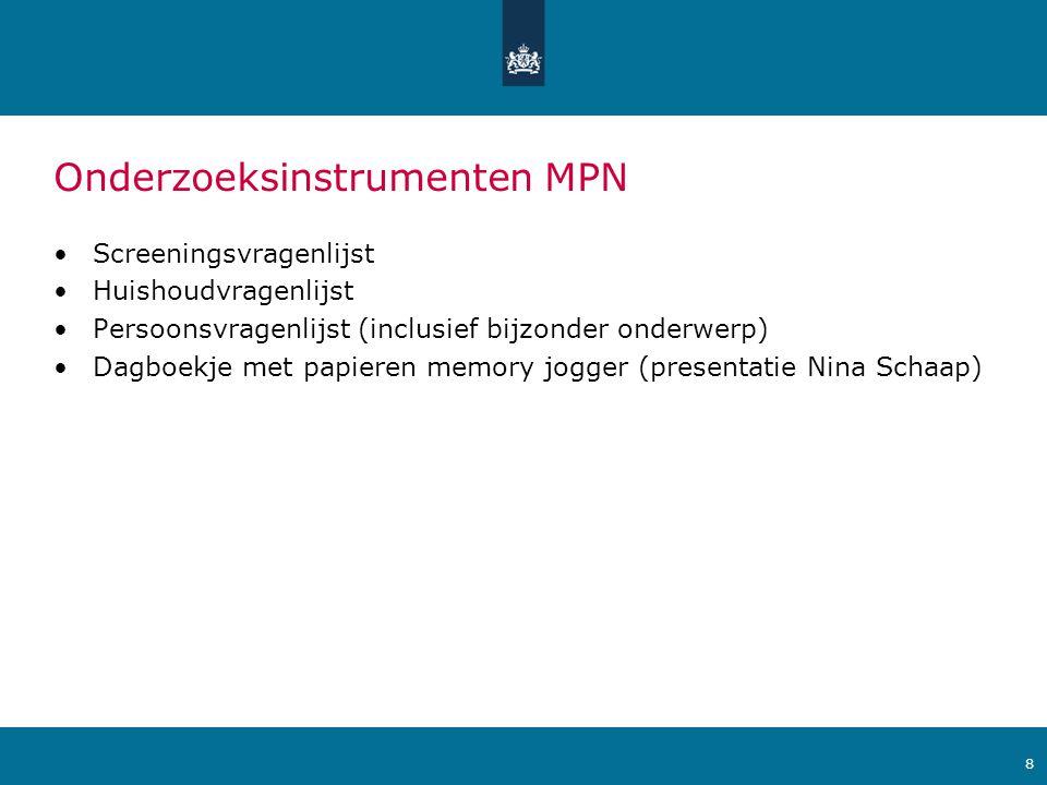 Onderzoeksinstrumenten MPN