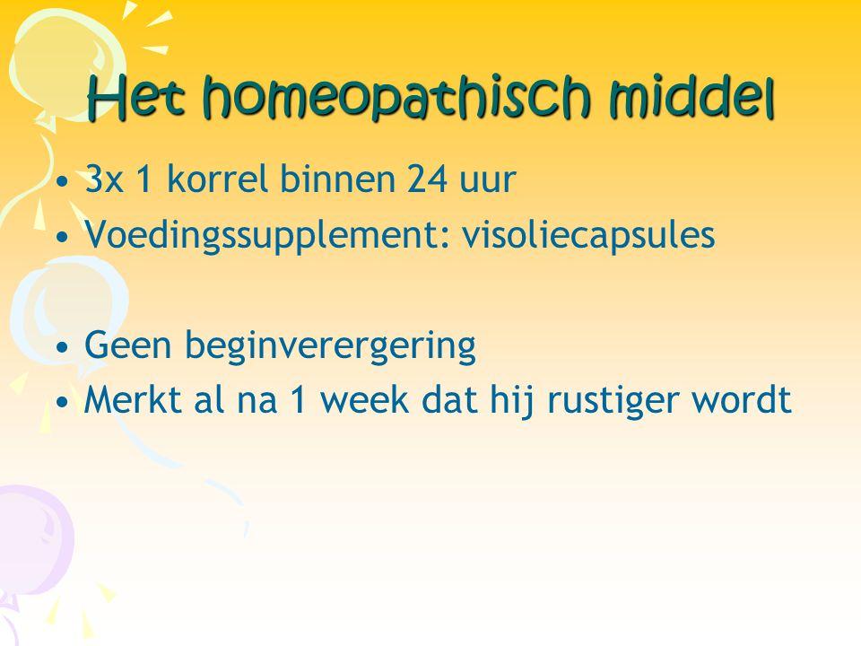 Het homeopathisch middel