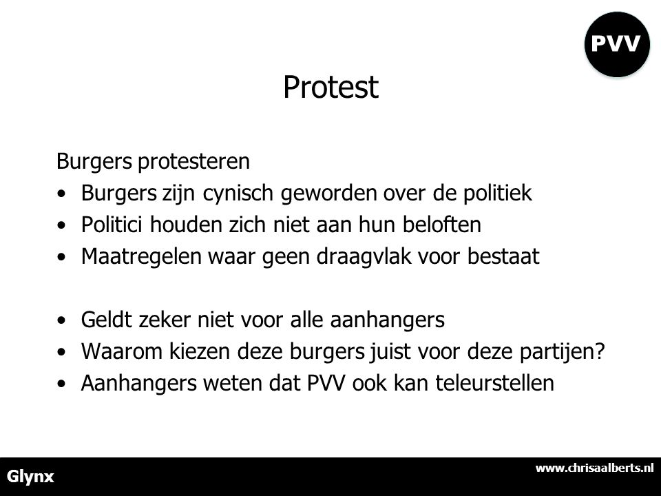 Protest PVV Burgers protesteren