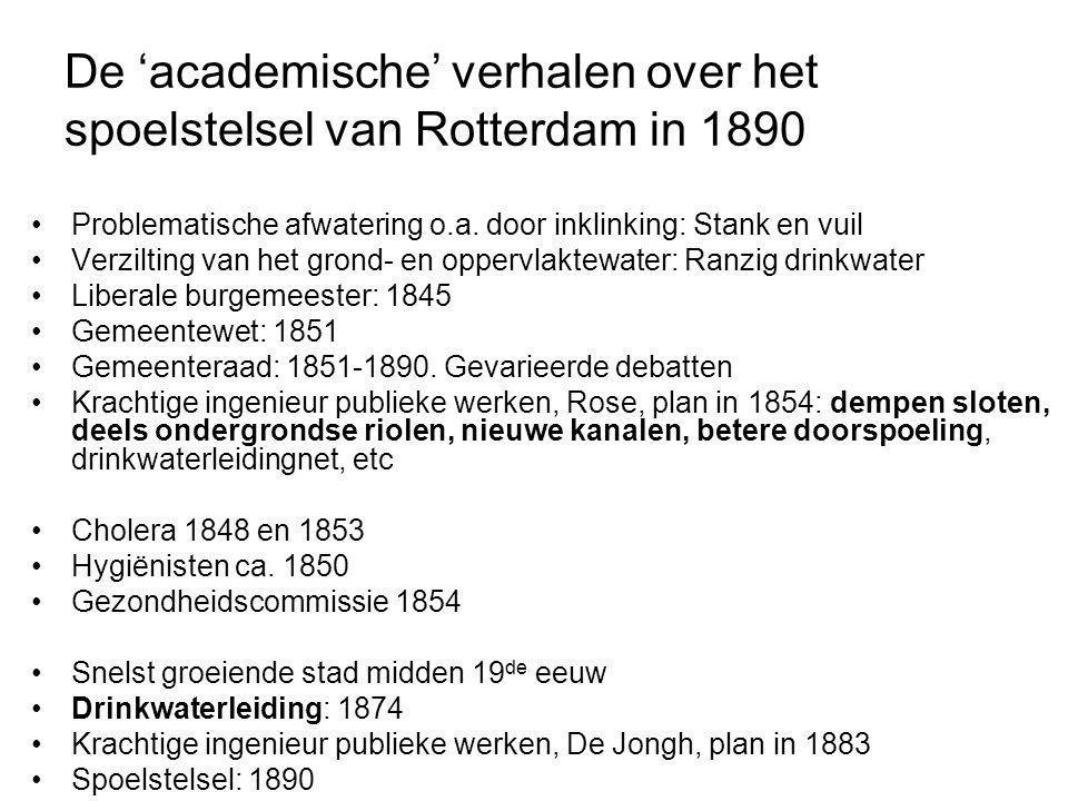 De 'academische' verhalen over het spoelstelsel van Rotterdam in 1890