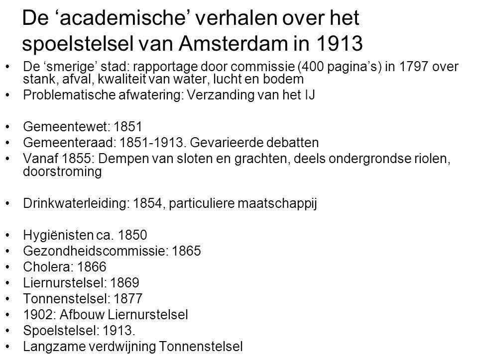 De 'academische' verhalen over het spoelstelsel van Amsterdam in 1913