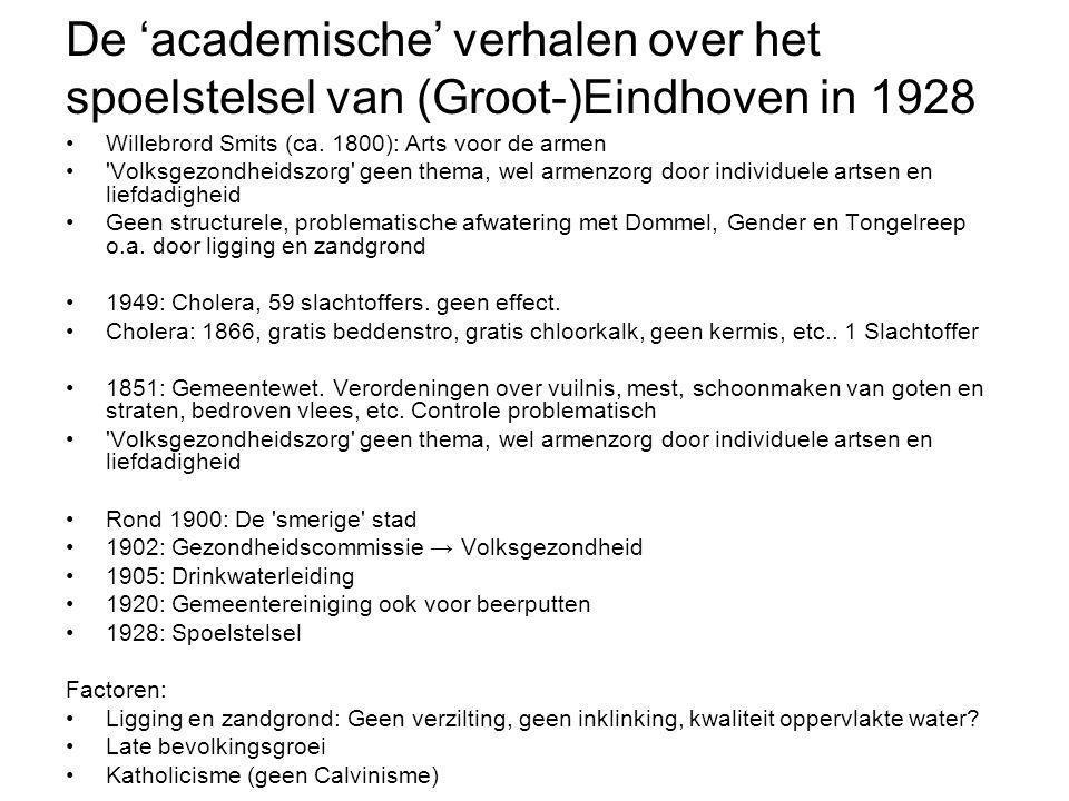 De 'academische' verhalen over het spoelstelsel van (Groot-)Eindhoven in 1928