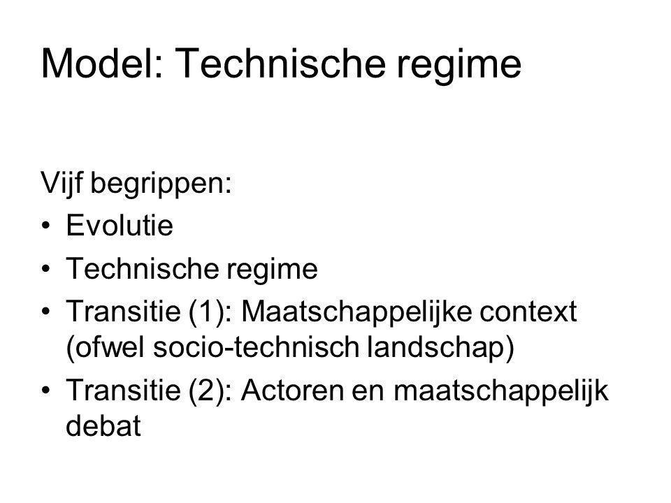 Model: Technische regime