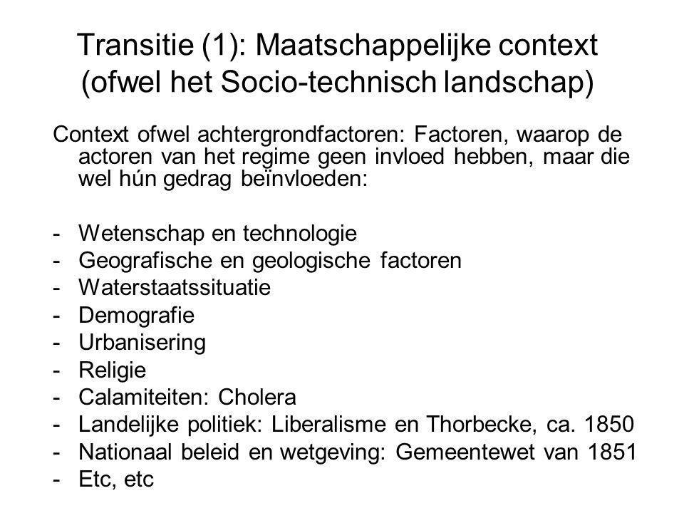 Transitie (1): Maatschappelijke context (ofwel het Socio-technisch landschap)