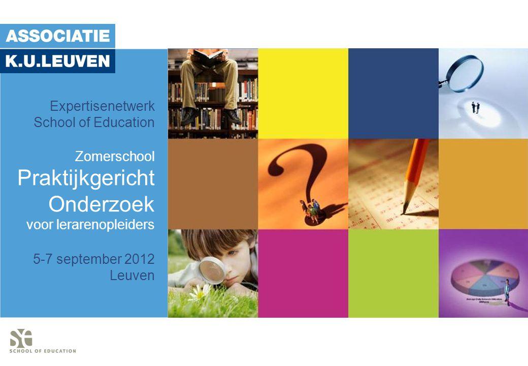 Praktijkgericht Onderzoek Expertisenetwerk School of Education