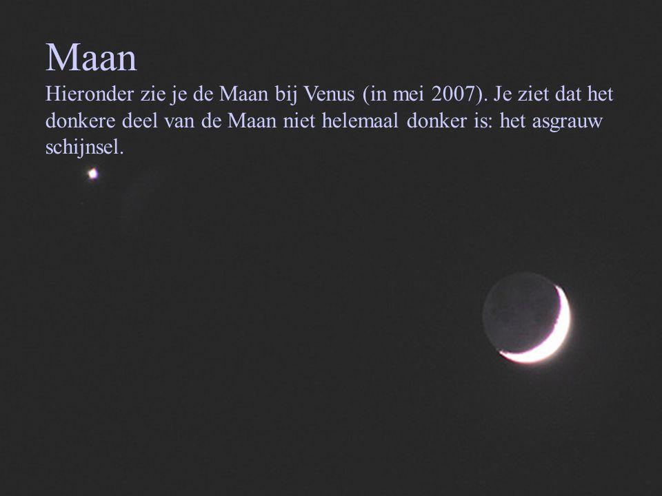 Maan Hieronder zie je de Maan bij Venus (in mei 2007).