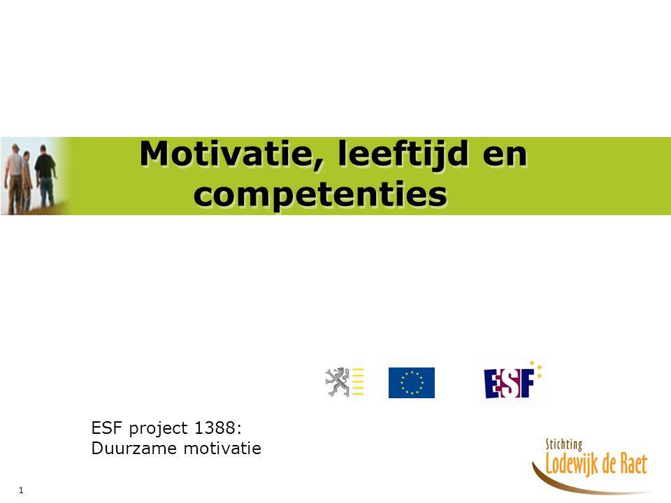Motivatie, leeftijd en competenties
