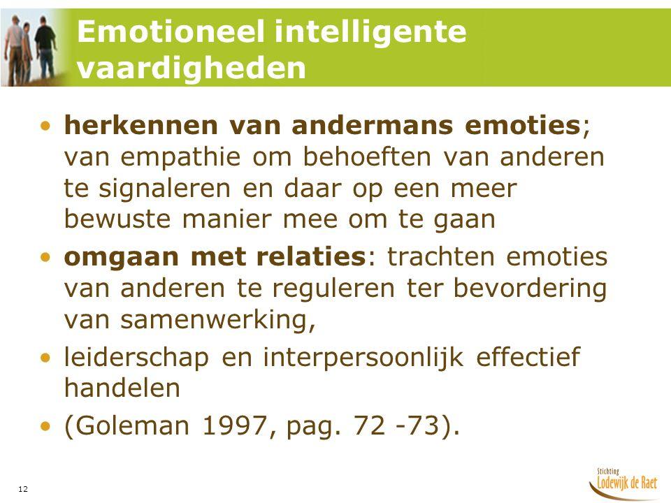 Emotioneel intelligente vaardigheden