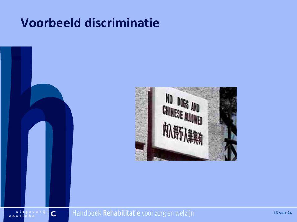 Voorbeeld discriminatie