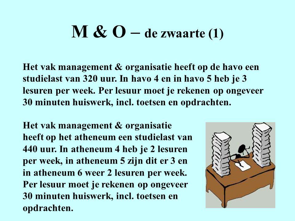 M & O – de zwaarte (1)