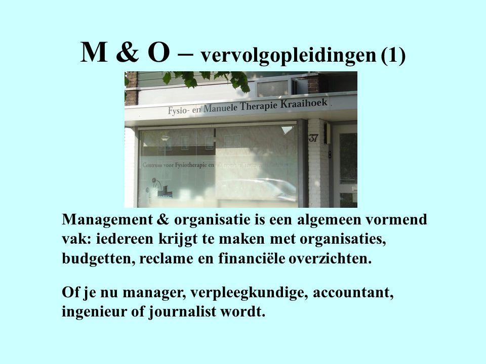 M & O – vervolgopleidingen (1)