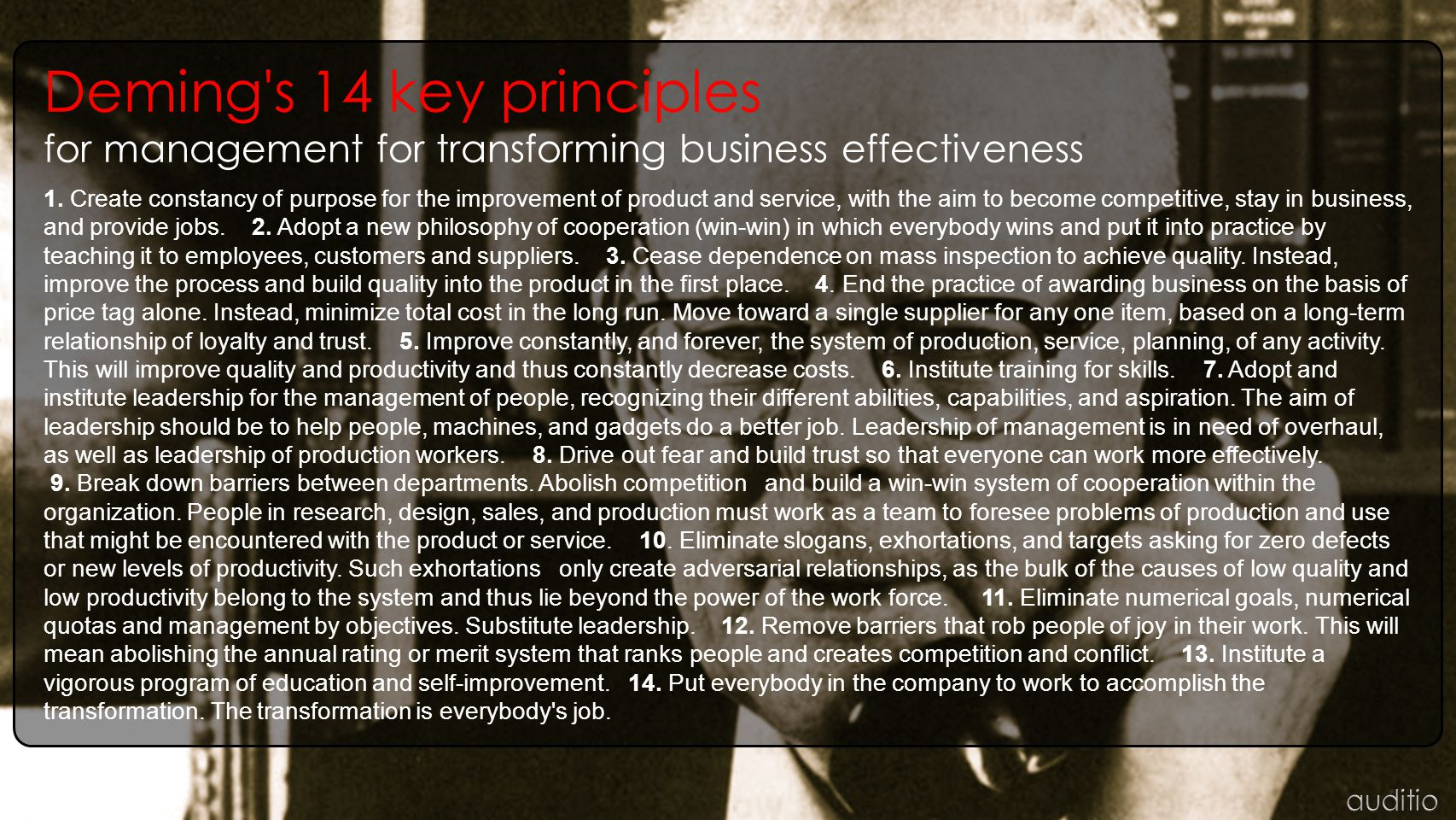 Deming s 14 key principles