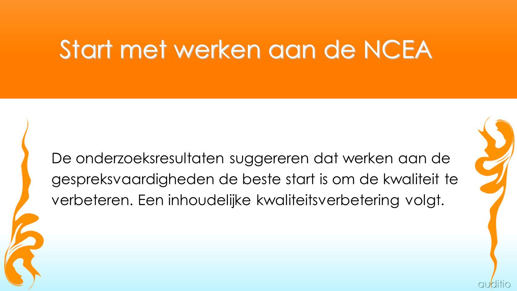 Start met werken aan de NCEA