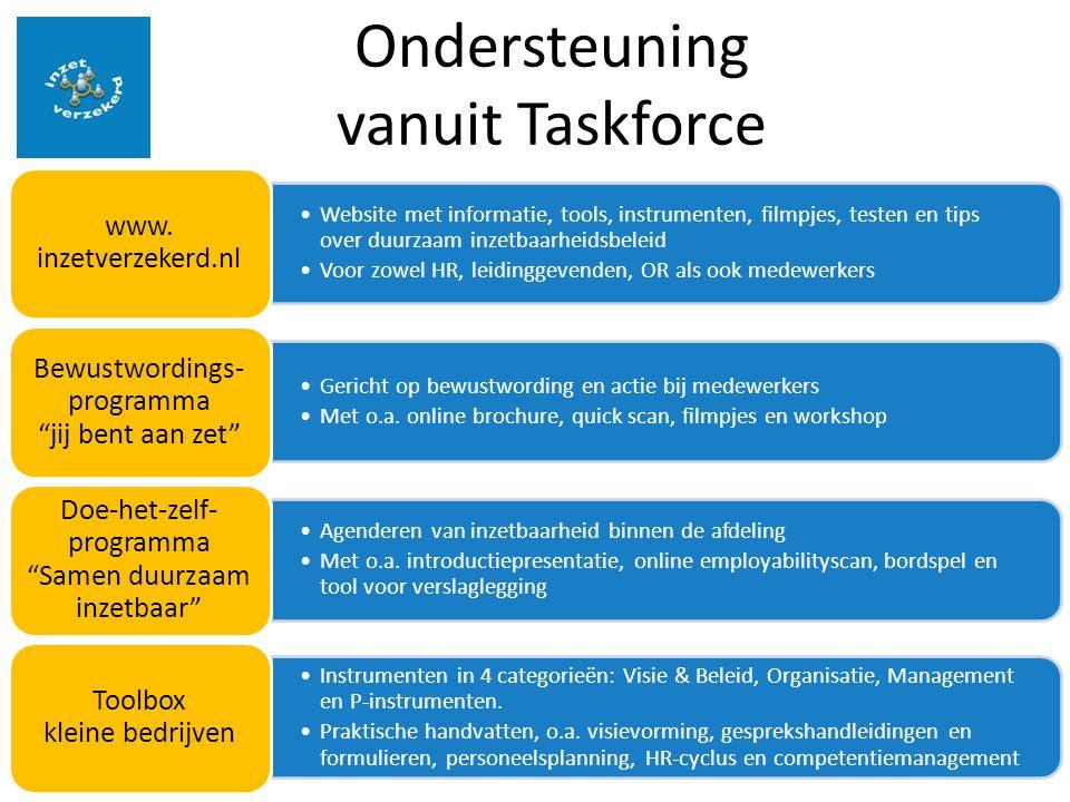 Ondersteuning vanuit Taskforce