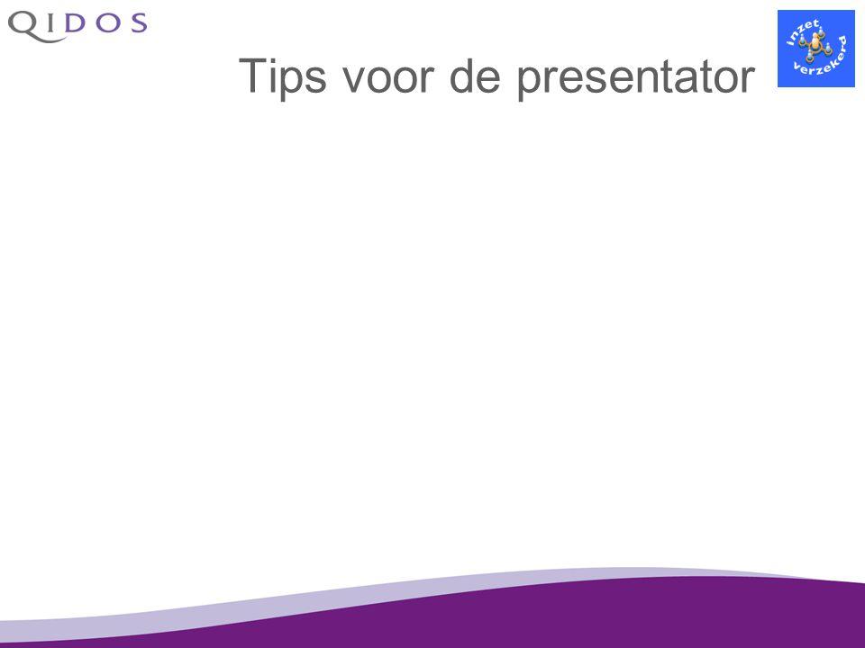 Tips voor de presentator
