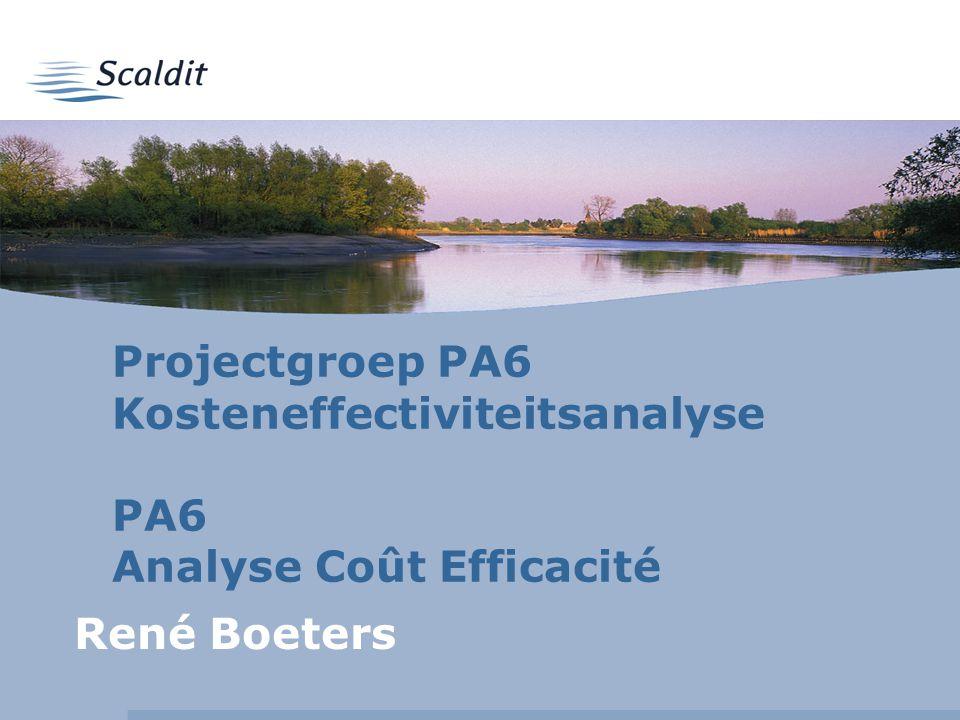 Projectgroep PA6 Kosteneffectiviteitsanalyse