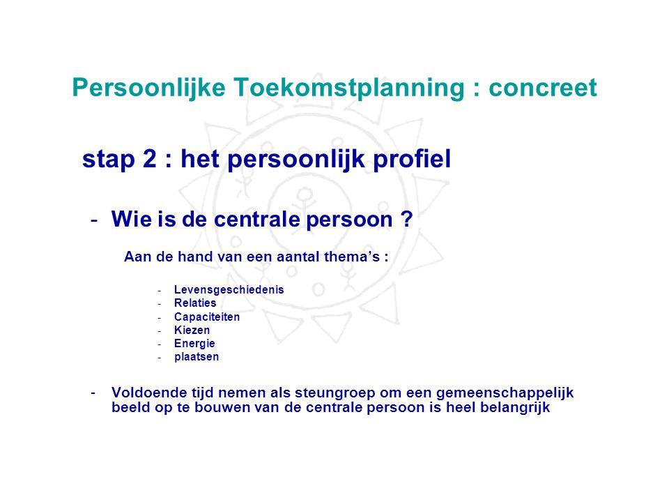 Persoonlijke Toekomstplanning : concreet