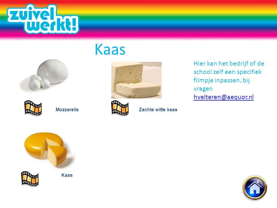 Kaas Hier kan het bedrijf of de school zelf een specifiek filmpje inpassen, bij vragen hvelteren@aequor.nl.