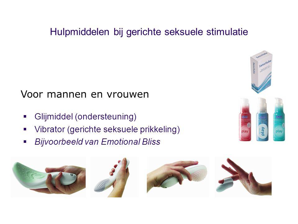 Hulpmiddelen bij gerichte seksuele stimulatie