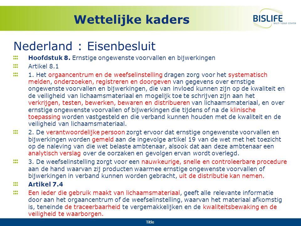 Nederland : Eisenbesluit