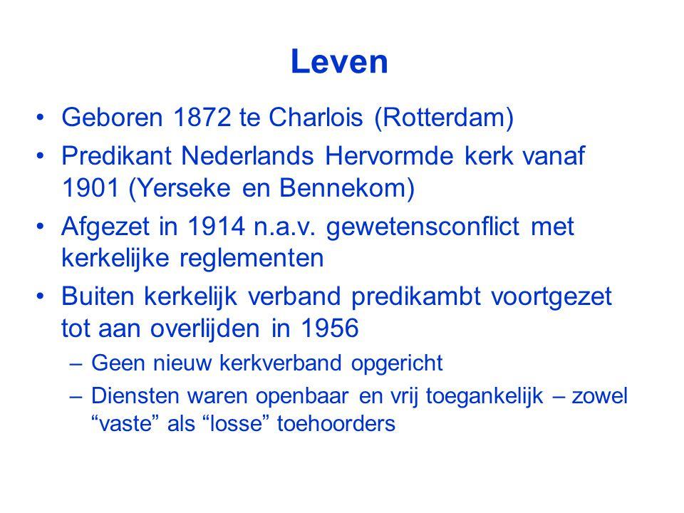 Leven Geboren 1872 te Charlois (Rotterdam)