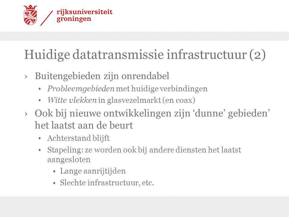 Huidige datatransmissie infrastructuur (2)