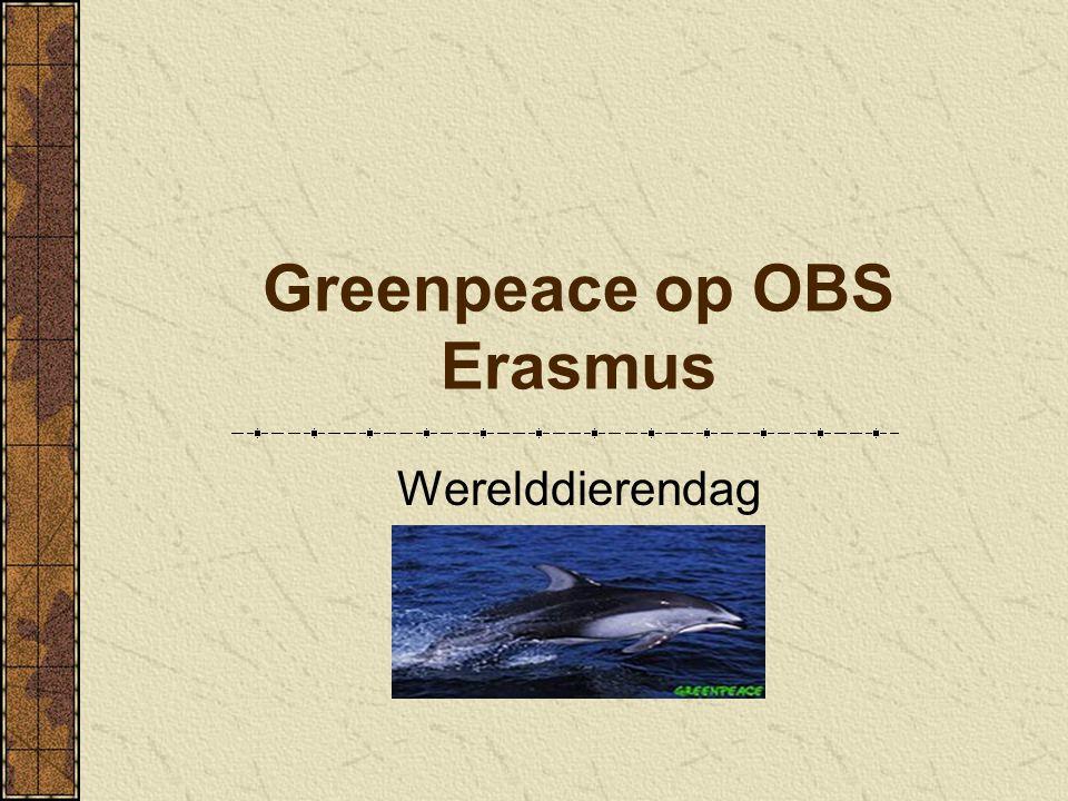 Greenpeace op OBS Erasmus