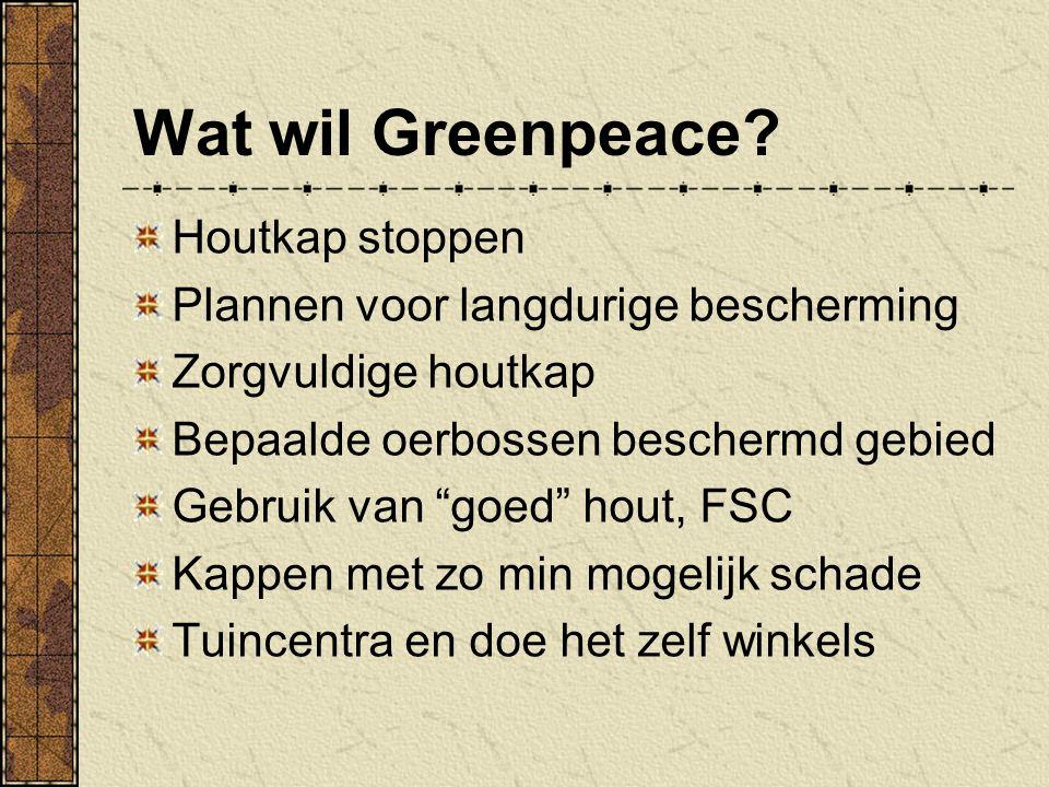 Wat wil Greenpeace Houtkap stoppen