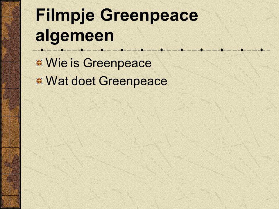 Filmpje Greenpeace algemeen