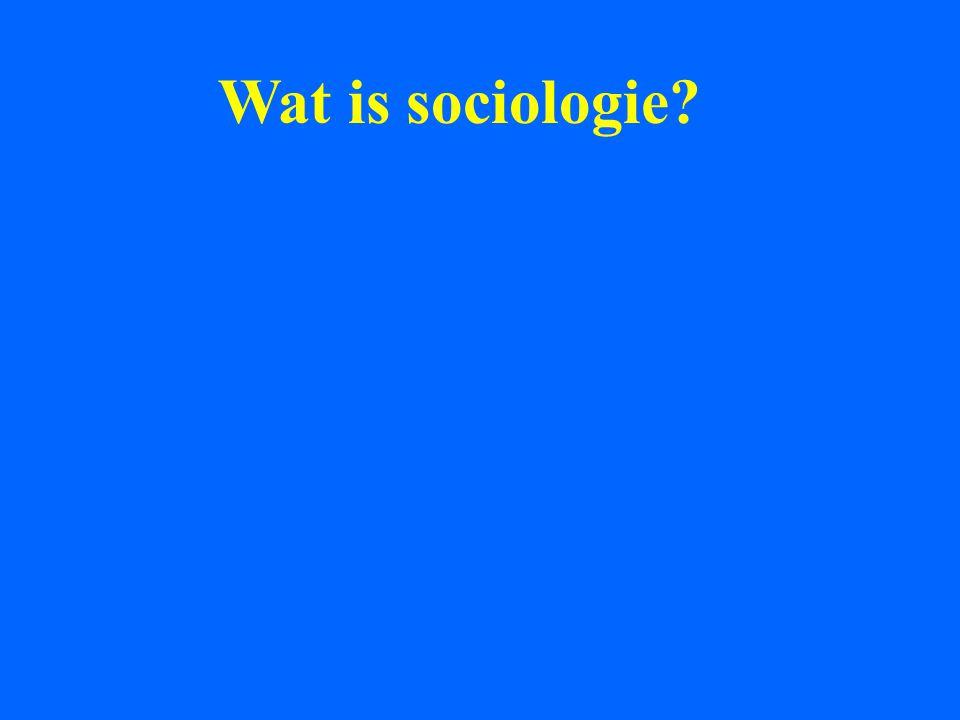 Wat is sociologie