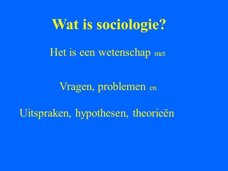 Wat is sociologie Het is een wetenschap met Vragen, problemen en