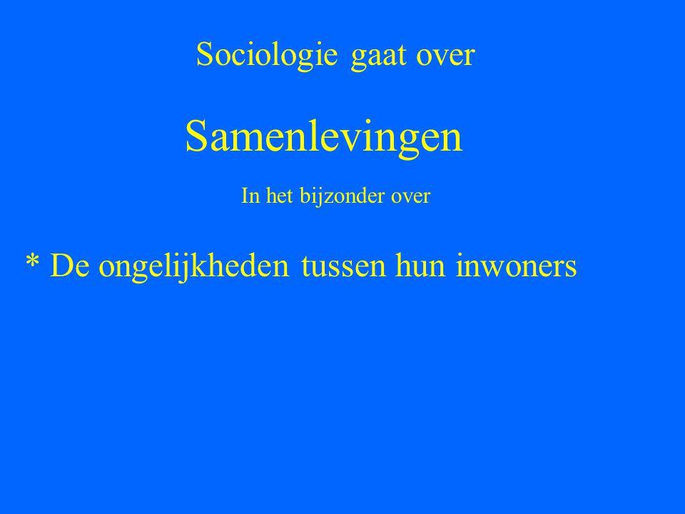 Samenlevingen Sociologie gaat over