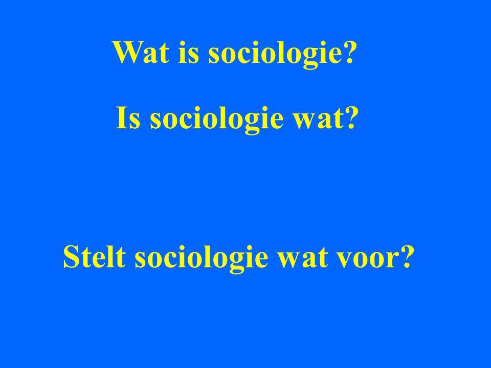 Wat is sociologie Is sociologie wat Stelt sociologie wat voor