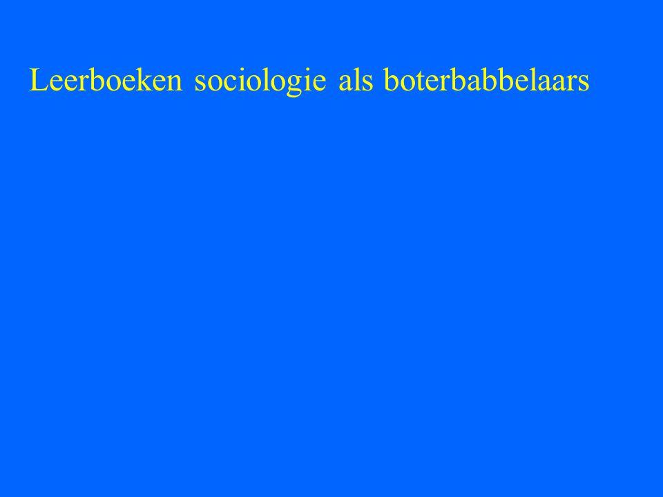 Leerboeken sociologie als boterbabbelaars