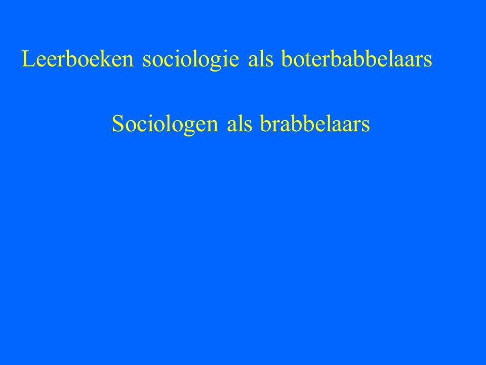 Sociologen als brabbelaars