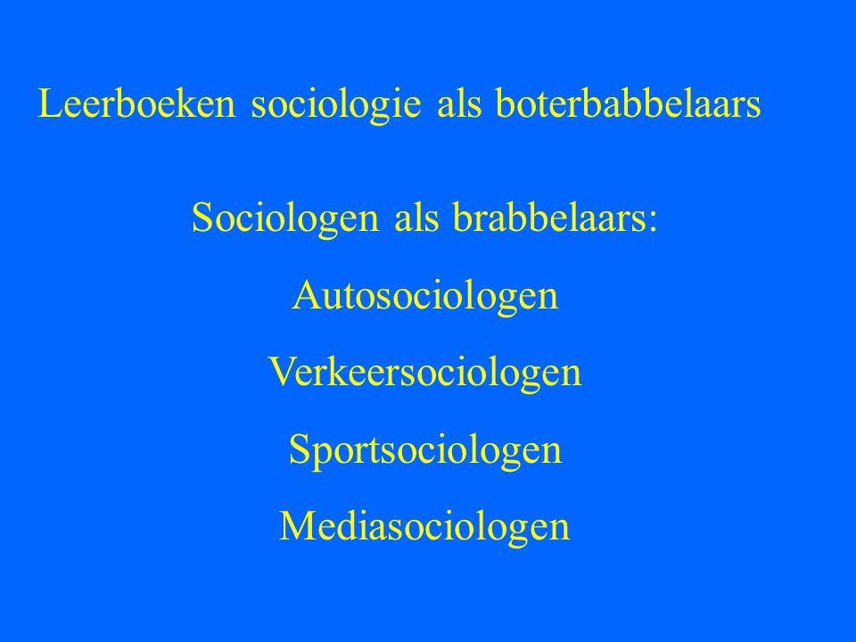 Sociologen als brabbelaars: