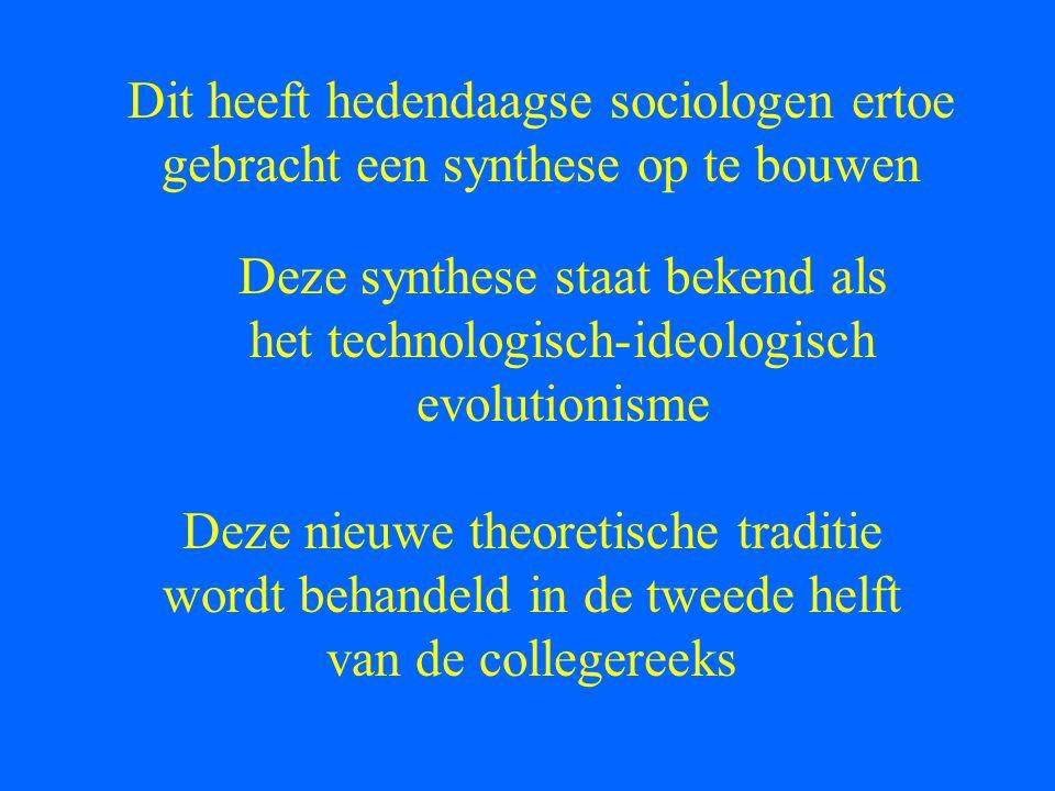 Dit heeft hedendaagse sociologen ertoe gebracht een synthese op te bouwen