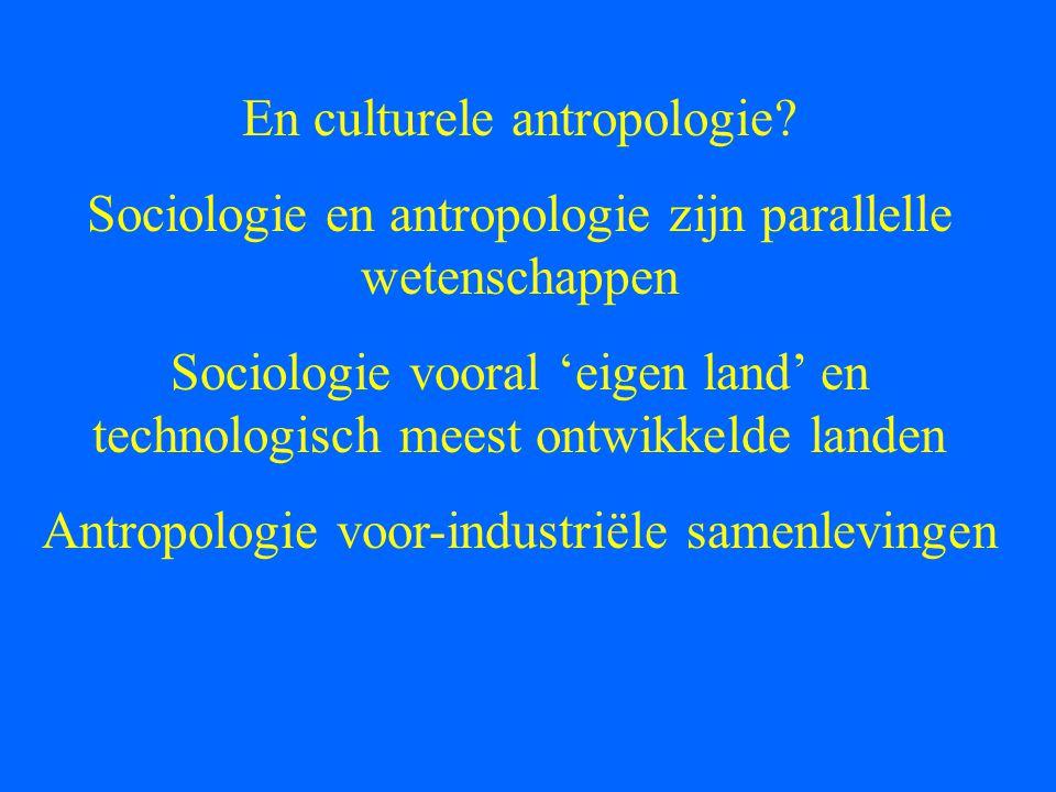 En culturele antropologie