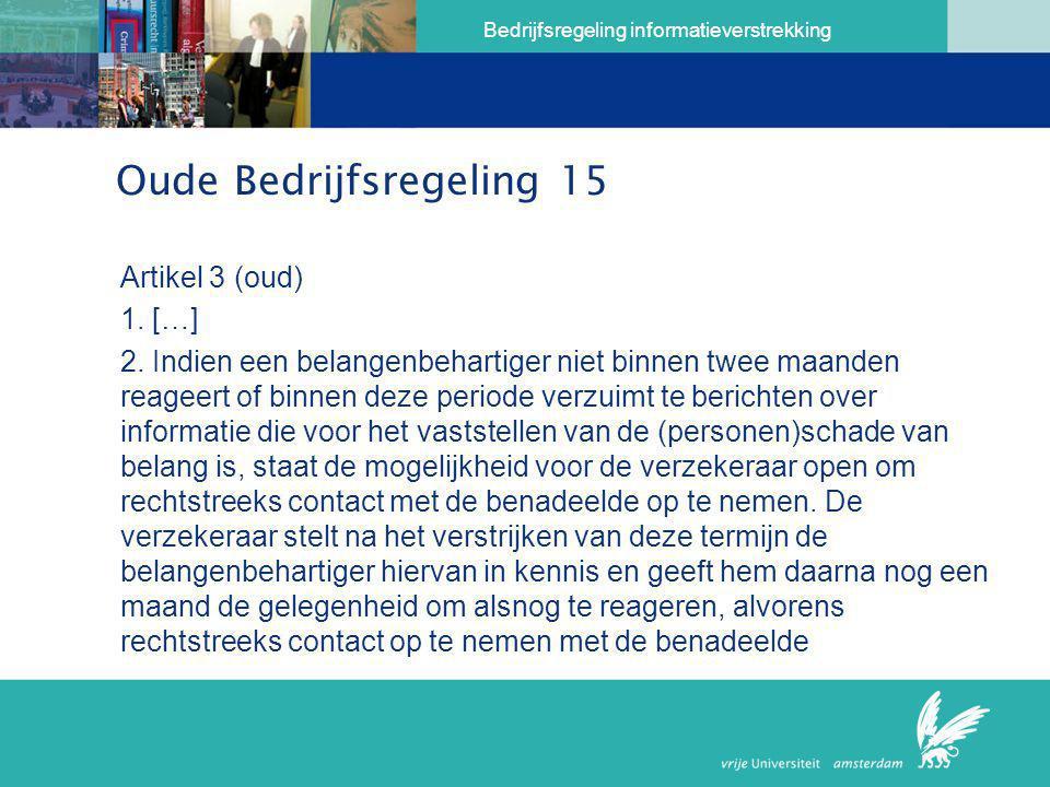 Oude Bedrijfsregeling 15