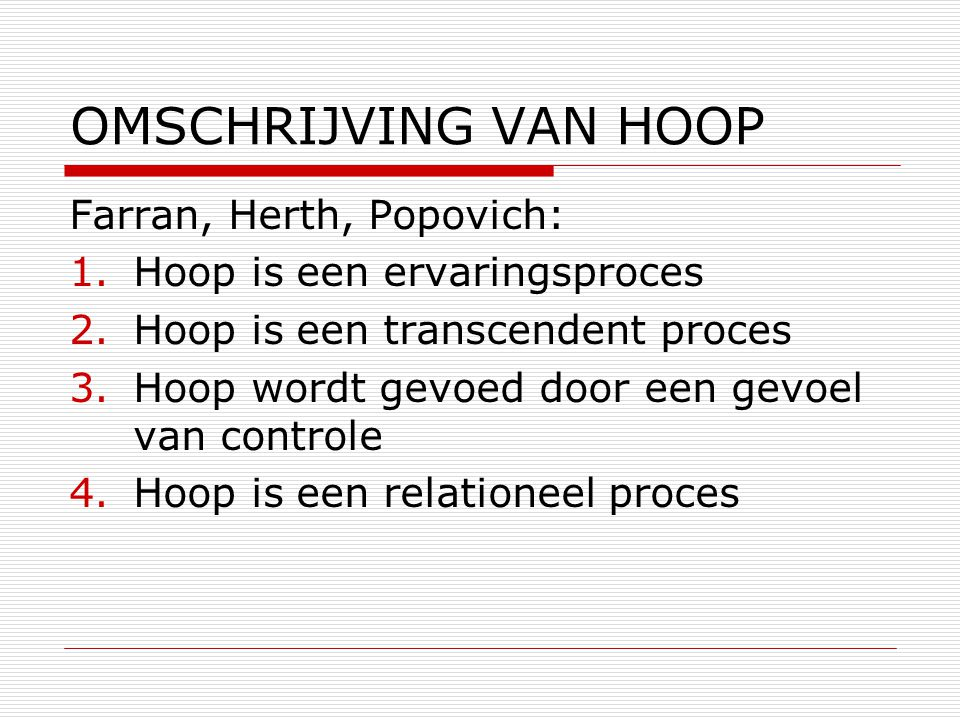 OMSCHRIJVING VAN HOOP Farran, Herth, Popovich:
