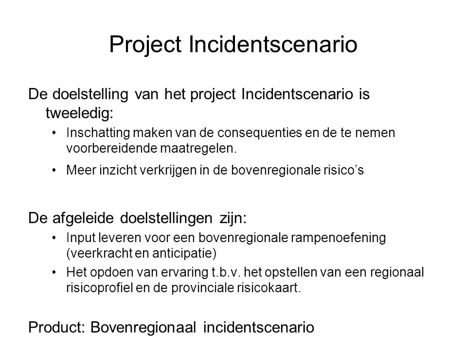Project Incidentscenario