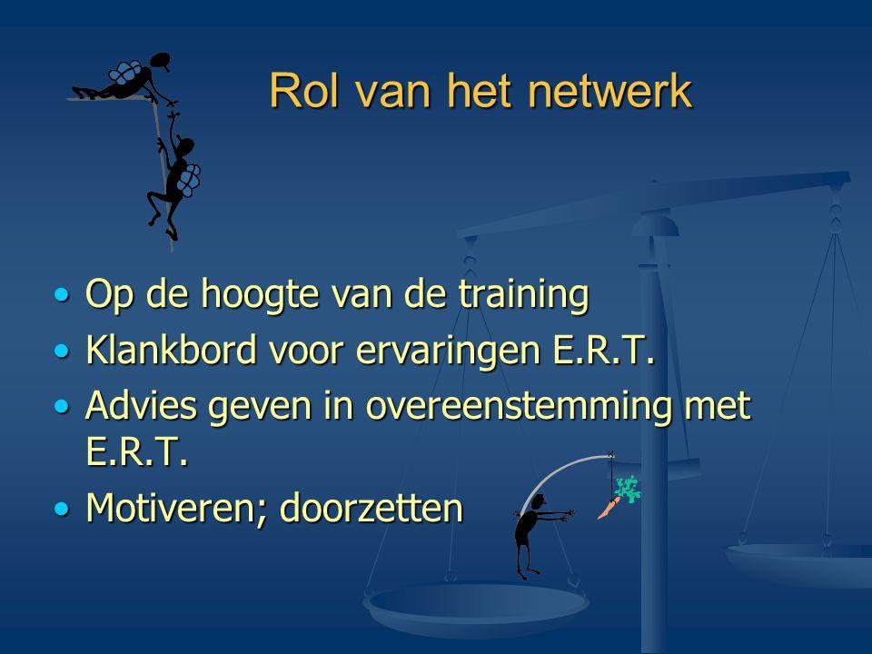 Rol van het netwerk Op de hoogte van de training