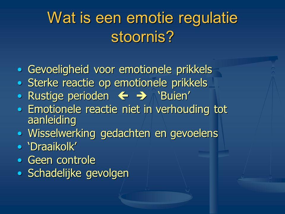 Wat is een emotie regulatie stoornis